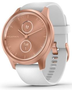 купить Фитнес-трекер Garmin vivomove Style, S/E EU, Rose Gold, White, Silicone в Кишинёве