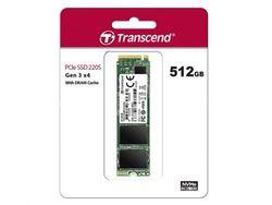 .M.2 NVMe SSD, 512 ГБ, Transcend 220S [PCIe 3.0 x4, R / W: 3500/2100 МБ / с, 210/310 000 операций ввода-вывода в секунду, SM2262, 3DTLC]