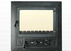 Дверца чугунная со стеклом Weekend - Elegant