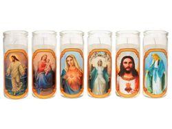 Подсвечник-стакан со свечей 6.2Х14сm