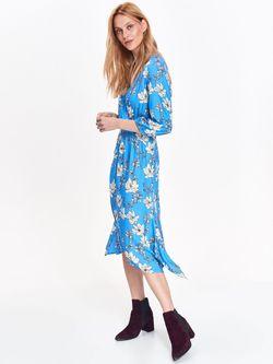 Платье TOP SECRET Синий в цветочек ssu2462