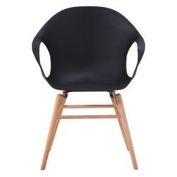 Деревянный стул с деревянными ножками, 550x600.5x440x900 мм, черный