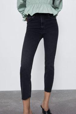 Pantaloni ZARA Gri incis 8246/047/800 zara.