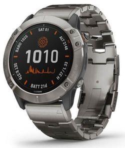 cumpără Ceas inteligent Garmin fenix 6X Pro Solar Edition titanium with vented titanium bracelet în Chișinău