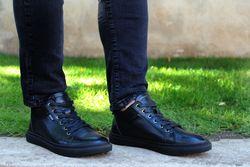 Мужские черные кеды