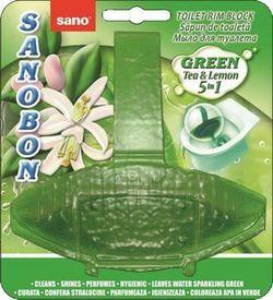 Suspensie pentru toaletă Sano Bon Green Tea&Lemon 55 g