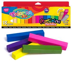 Пластилин Colorino квадратный 18 цветов