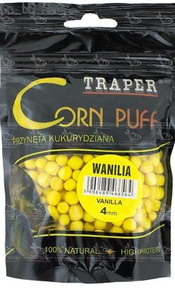 Aluat pufat Traper Corn Puff 4mm 20g - Wanilia (Vanilie)