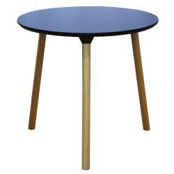 Masă cu suprafaţă din PAL şi picioare din lemn, 800x750 mm, negru