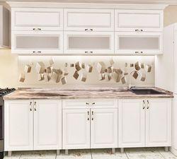 Кухонный гарнитур Bafimob Modern MDF 2.0m glass White
