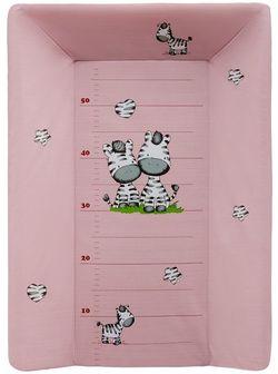 Пеленальная досочка (с подголовником) 50x70 ZEBRA, розовая, код 43752