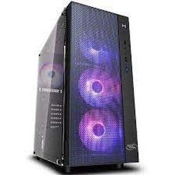Корпус ATX Deepcool MATREXX 55 MESH ADD-RGB 4F, без БП, 4x120мм, RGB, закаленное стекло, USB3.0, черный