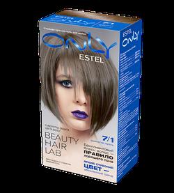 Vopsea p/u păr, ESTEL Only, 100 ml., 7/1 - Blond cenușiu