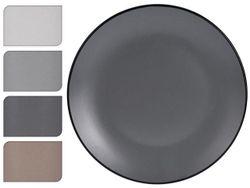 Тарелка 27cm сервировочная Black Rim, керамика
