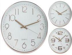 купить Часы Promstore 33543 rotund 30.5cm, din metal, culoare aurie в Кишинёве