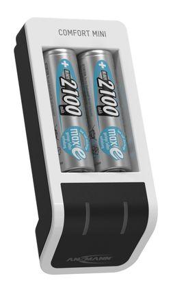 купить Зарядное устройство для аккумуляторов Ansmann 1001-0091-01 Comfort Mini + 2× AA 2100mAh в Кишинёве