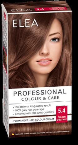 Краска для волос,SOLVEX Elea, 138 мл., 5.4 - Золотой каштан