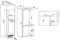 Встраиваемый холодильник Whirlpool ART6610