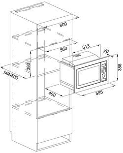 Cuptor cu microunde incorporabil Franke FMW 250 CR2 G WH
