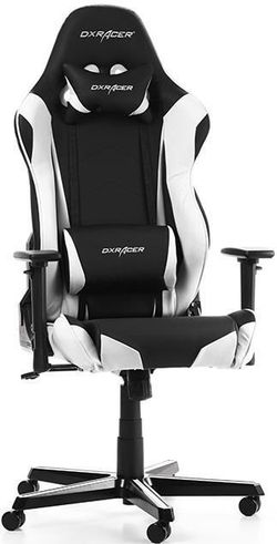 купить Gaming кресло DXRacer Racing GC-R0-NW-Z1, Black/White в Кишинёве
