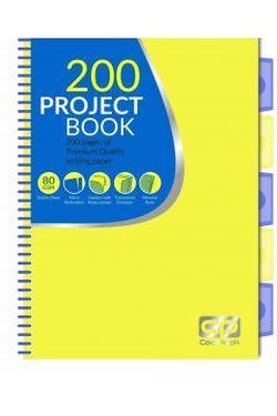 Блокнот с перегородками CoolPack желтый с синим A4
