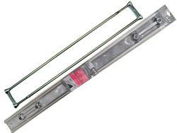 Tija dubla pentru perdea si prosoape MSV 125-225cm inox