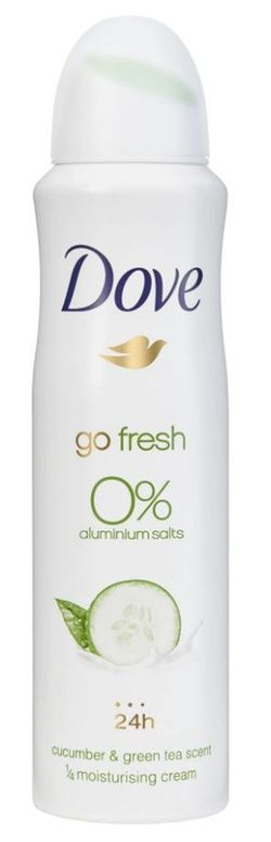 Antiperspirant Dove Go Fresh Cucumber&Green Tea Scent, 0% aluminiu,  150 ml