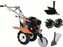 Набор мотоблок TECHNOWORKER HB 704.3.1 N + плуг регулируемый + плуг картофель + металлические колеса 4*8