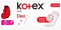 Ежедневные прокладки Kotex SuperSlim Deo, 56 шт.
