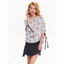 Блуза TOP SECRET Белый с принтом sbw0374