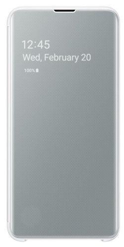 cumpără Husă telefon Samsung EF-ZG970 Clear View Cover Beyound White în Chișinău