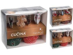 Set de forme pentru checuri din hirtie Cucina 100buc D5cm si 20 betisoare, 2 culori