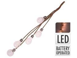 Set de ghirlande LED 5 lampi transparente pentru iluminarea casei, pe baterii