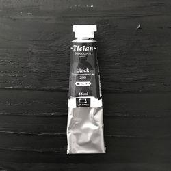 Vopsea în ulei, Tician, Negru, 46 ml