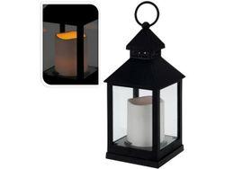 Фонарь подвесной со свечей LED 23X10.5сm, черный