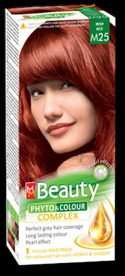 Vopsea p/u păr, SOLVEX MM Beauty, 125 ml., M25 - Roșu irlandez