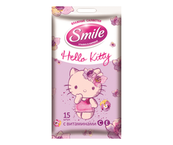 Şerveţele umede Smile Hello Kitty, 15 buc.