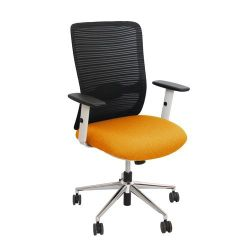 Scaun de birou 635x555x955 mm, negru cu orange