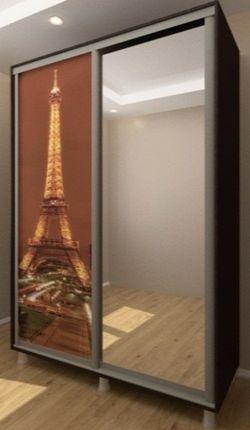 Шкаф-купе Bafimob D-140 Glass+Paris Wenge
