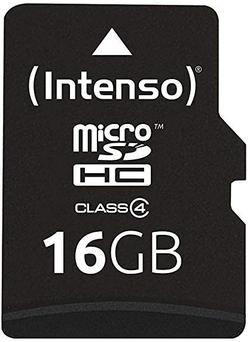 Сard de memorie Intenso MicroSD 16 GB Class 4