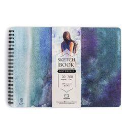 Album pentru acuarele Malevich,Waterfall 300 gm2, 26х19 cm, 20 foi
