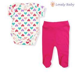 Набор для новорожденных с сердечками