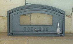 Дверца чугунная со стеклом левая DCH3