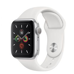 Smartwatch Apple Watch Series 5 44mm /Silver Aluminium Case With White Sport Band, MWVD2 GPS