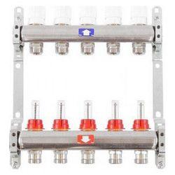 Коллектор INOX 5 вых. в сборе с расходомером 1