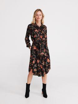Платье RESERVED Черный с принтом ya057-mlc