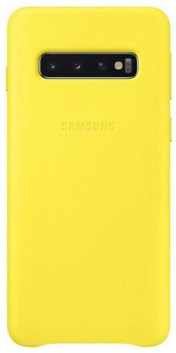 cumpără Husă pentru smartphone Samsung EF-VG973 Leather Cover S10 Yellow în Chișinău