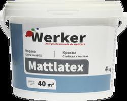 Vopsea extra-lavabila interior Werker Mattlatex 4 kg