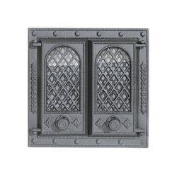 Дверца чугунная со стеклом двустворчатая LITWA II