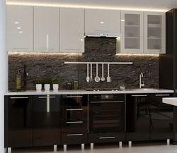 Bucătărie Bafimob Iulia (High Gloss) 2.6m Beige/Black
